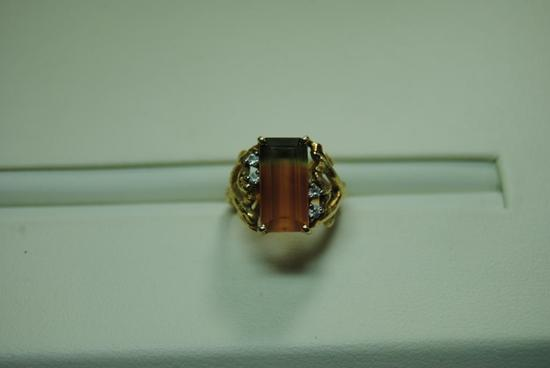 Tourmaline fashion ring.