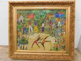 ARTIST: BECKER DO VALLE, ROSINA (Brazil, 1914-2000) TITLE: ?Capoeira? DATE: c. 1991 Oil on canvas