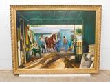 CRUTE, SHARON (American) TITLE: ?Breezeway? DATE: 1998 MEDIUM: Oil on canvas