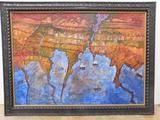 GOLUBINSKY, LILIANA DATE: 1999 MEDIUM: Acrylic and collage on canvas