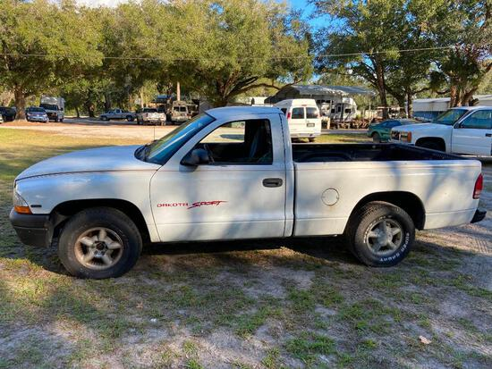 1998 Dodge Dakota Pickup Truck, VIN # 1B7FL26P7WS645856