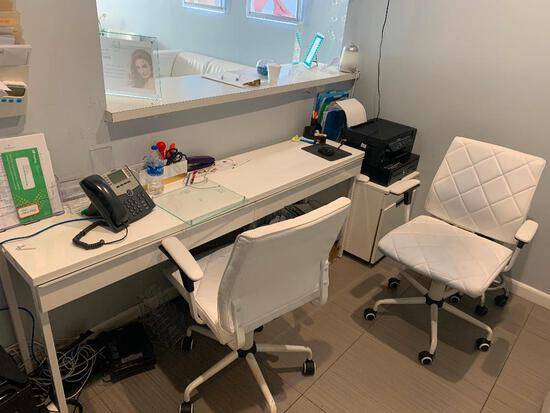 ROLLING WHITE DESK CHAIRS