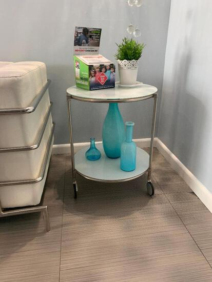CIRCULAR ROLLING SIDE TABLE
