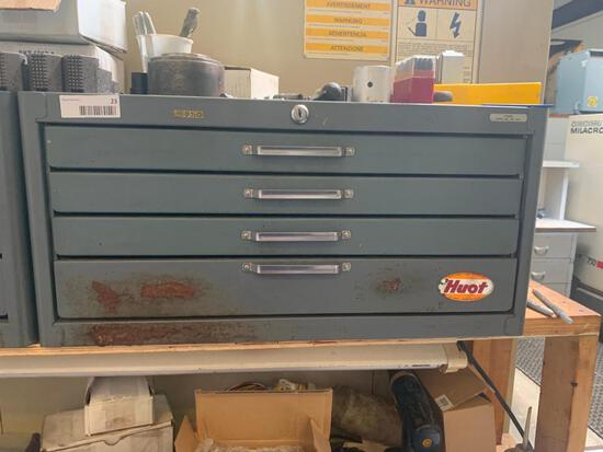 Huot 4 Drawer Machine Cabinets and Contents