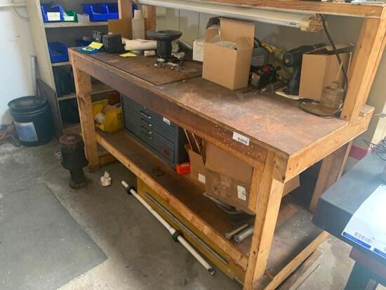 Workbench and remaining contents