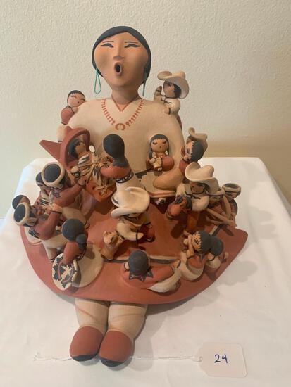 Ceramic Storyteller doll with fifteen + children