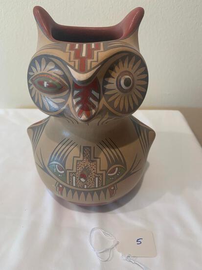 Hand painted ceramic Owl