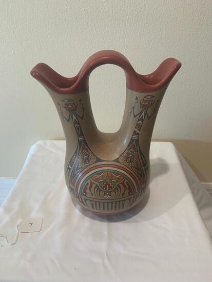 Polychrome wedding vase