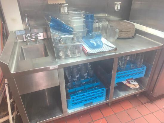 ss cabinet w/ sink