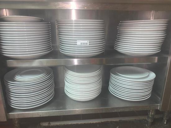 misc. dish ware (throughout restaurant)