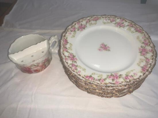 Elite Limoges France Lot of six bread plates and one tea cup