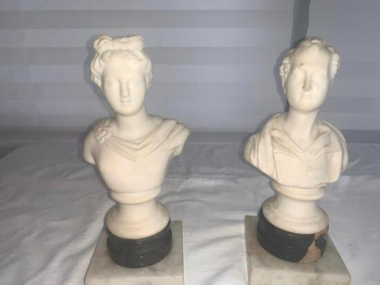 Set of two Busts (Male and Femaie)