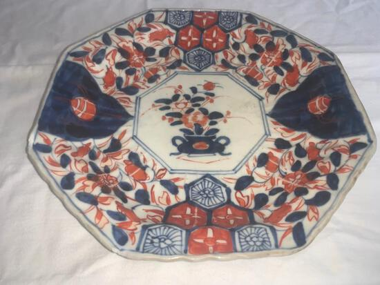 Octagonal Floral Plate