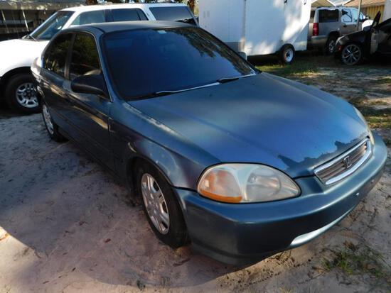 1998 Honda Civic Passenger Car, VIN # 2HGEJ6570WH597121