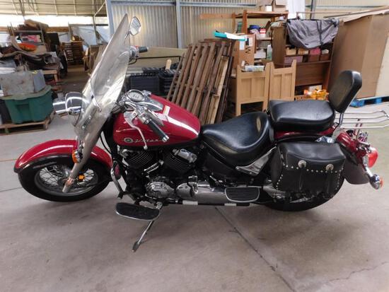 2000 Yamaha XVS650 Motorcycle, VIN # JYAVM01E3YA015596