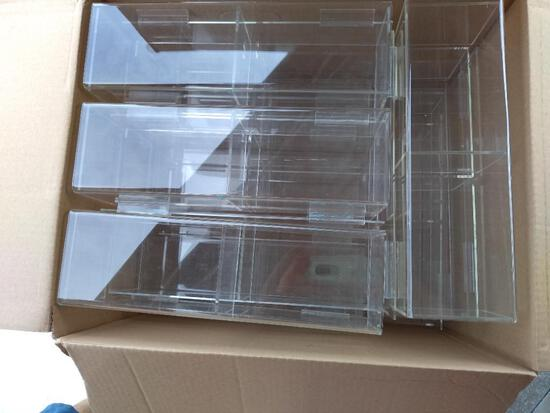 Lot of All fixtures: (6) rounders, display cabinets, mannequins, shelving, etc.
