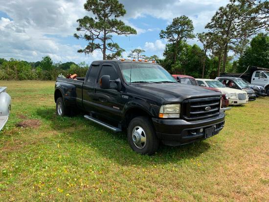 2003 Ford F-350 Pickup Truck, VIN # 1FTWX33P03EB90597