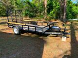 6'x10' Utility trailer w/ sides and drop down ramp