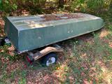 John Boat on trailer - aluminum- No title
