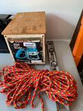 Makita Model 360B, 12 mm Router, rope and level