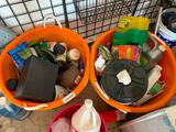 Lot of Misc. garden and yard tools, infant car seat (new in box), balloon time
