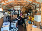 Contents of shed - monitors, keyboards, hard drives, motherboards, printers, electronics and parts