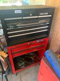 Craftsman rolling tool box and contents, small rolling cabinet