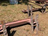 3 metal stands