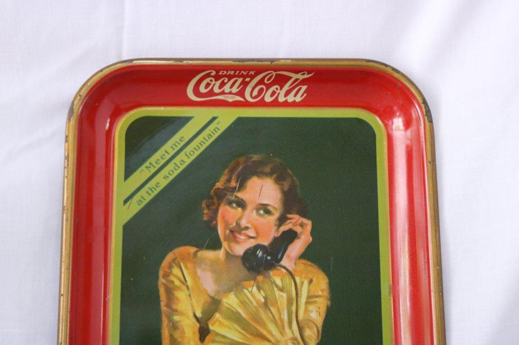 Lot: Coca Cola Trays   Proxibid Auctions
