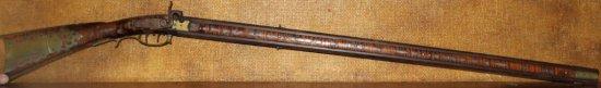Fine Percussion Swivel Breech Rifle by John Derr, famous Berks County