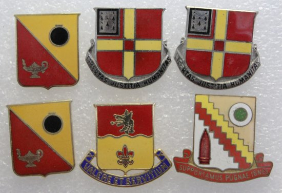 6 Calvary Artillery Clutch Back Military Crests