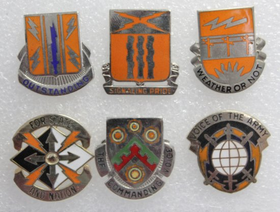 6 Signal Corps Clutch Back Crests