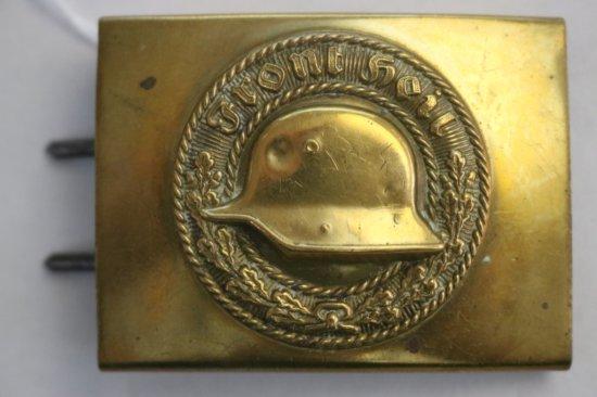 German Veterans Steel Helmet League Belt Buckle