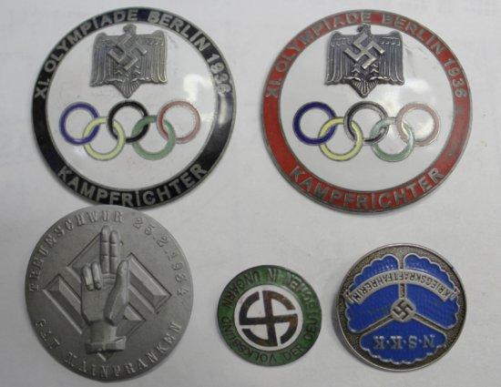 5 German Style Badges
