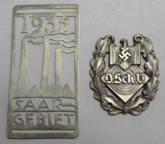 2 German Style Badges