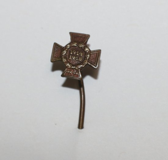 German WWII The Honor Cross of WWI Iron Cross Stick Pin