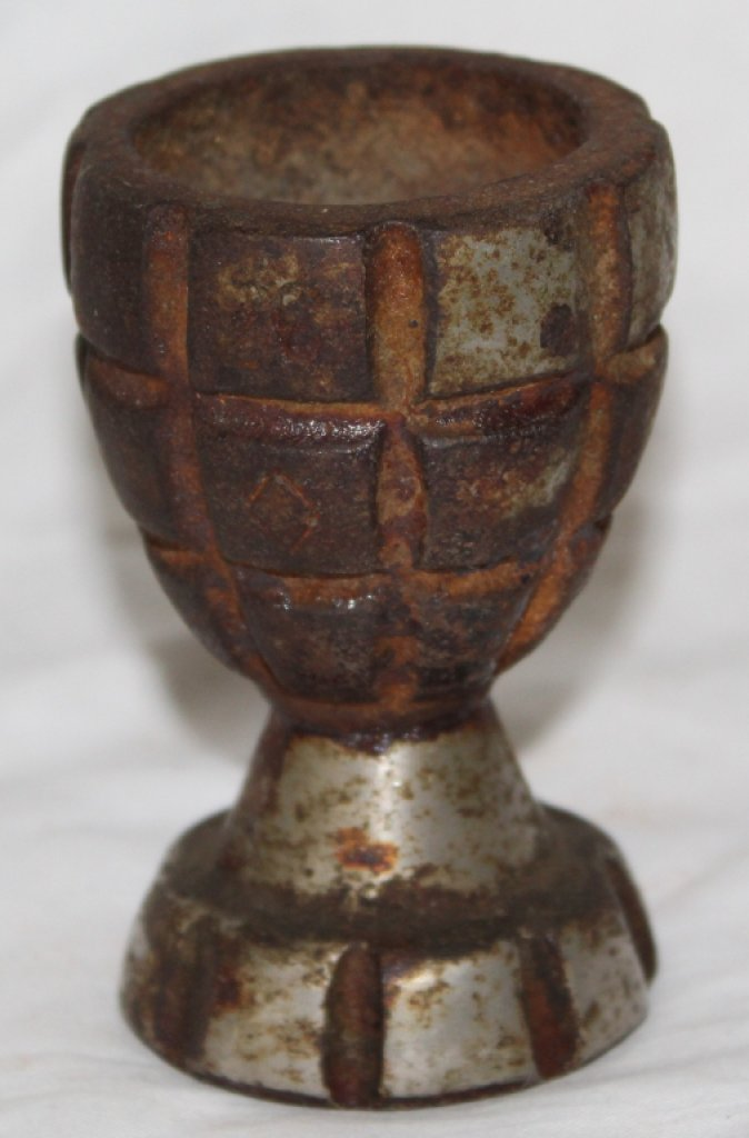WWII Trench Art Grenade Candle Holder
