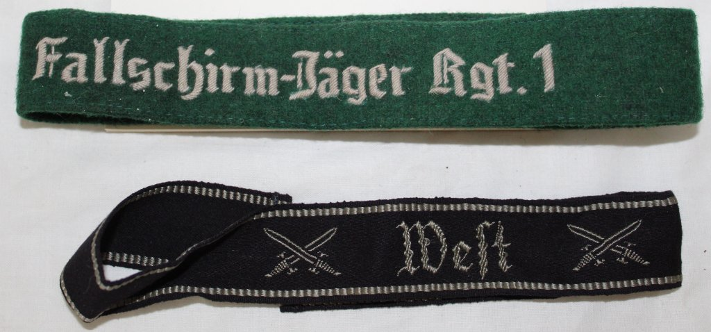 2 German Reproduction Cuff Titles