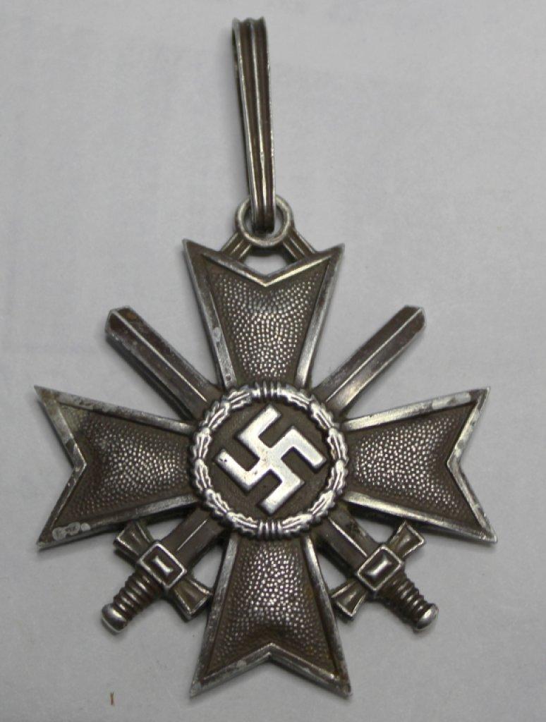 f706e6c3523bf Lot: German Nazi WWII Knights Cross of the War Merit Cross w/Swords ...