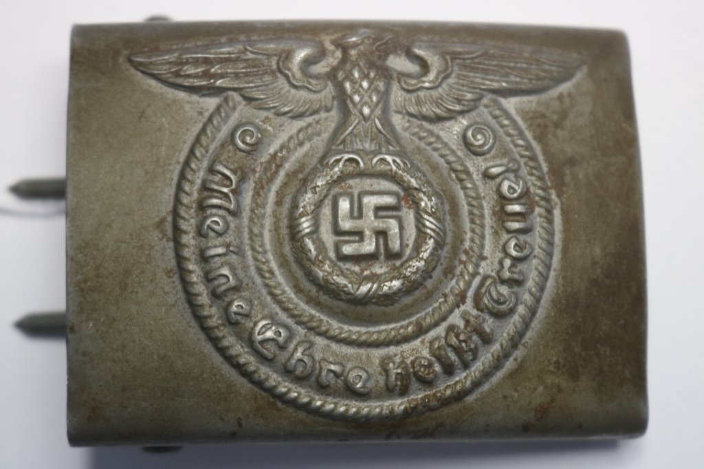 German Nazi SS EM Steel Belt Buckle