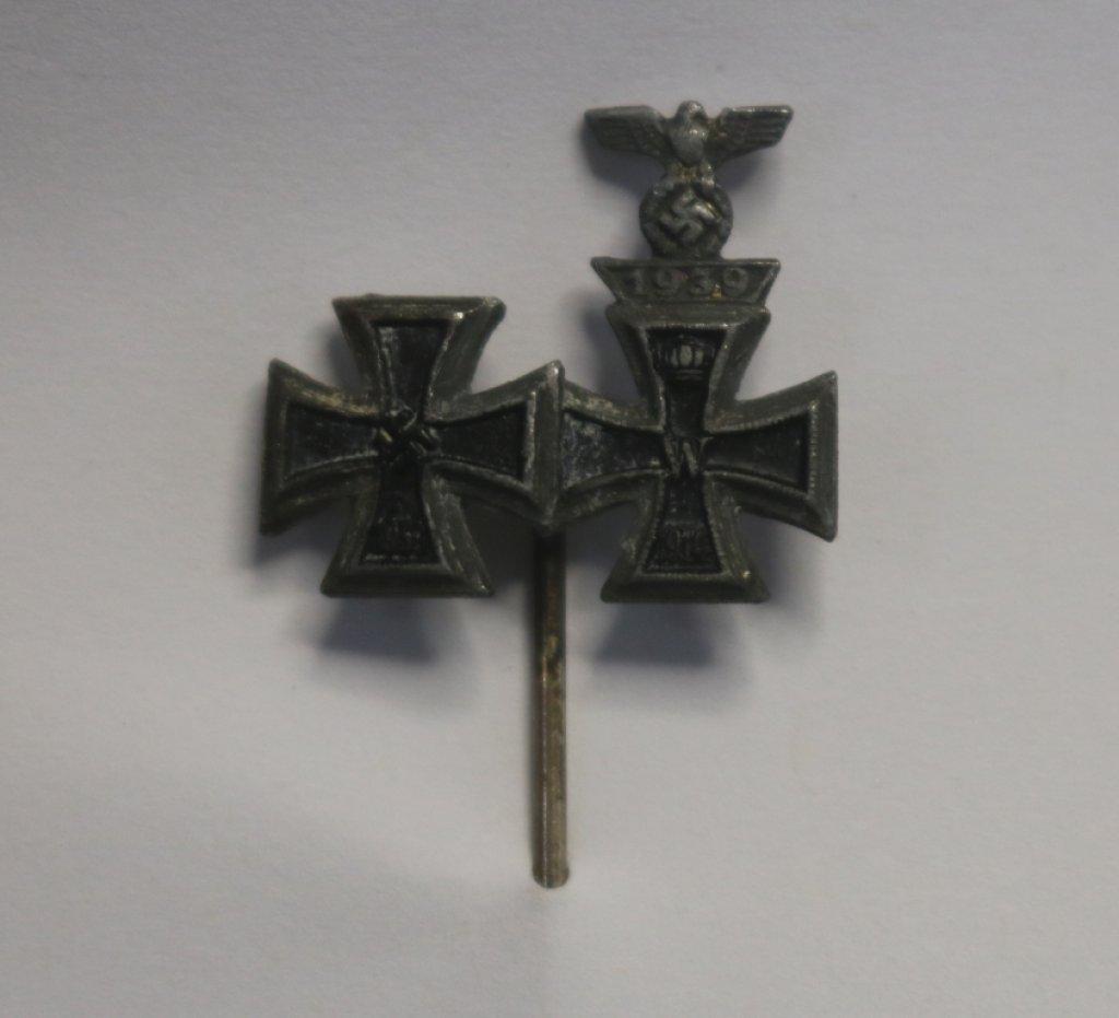 German WWII 1914 & 1939 Iron Cross Stick Pins & 1939 Spange Stick Pin