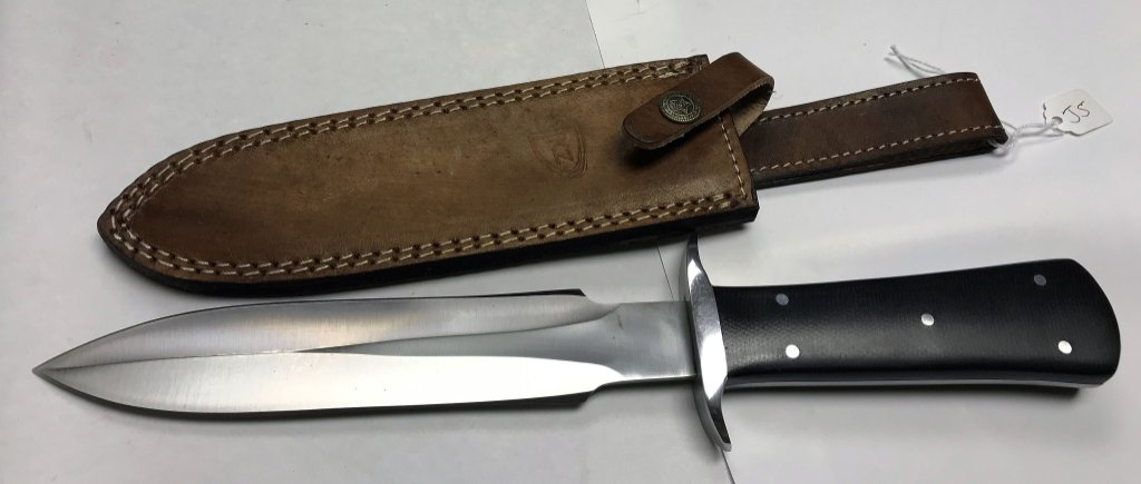 Kevin Johnson Mint D2 Tool Steel Toothpick Style Double Edged Dagger