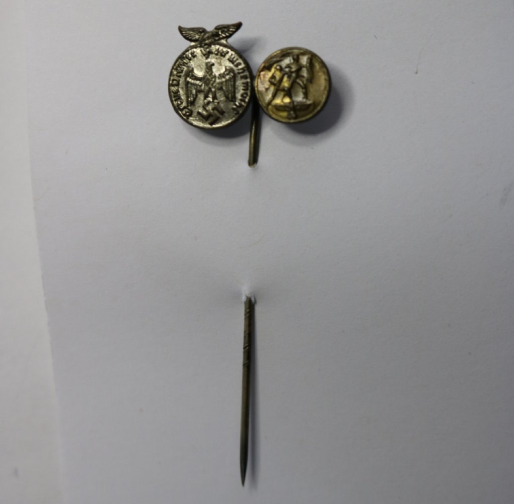 German WWII Nazi Austrian Unification Stick Pin w/1st October Pin