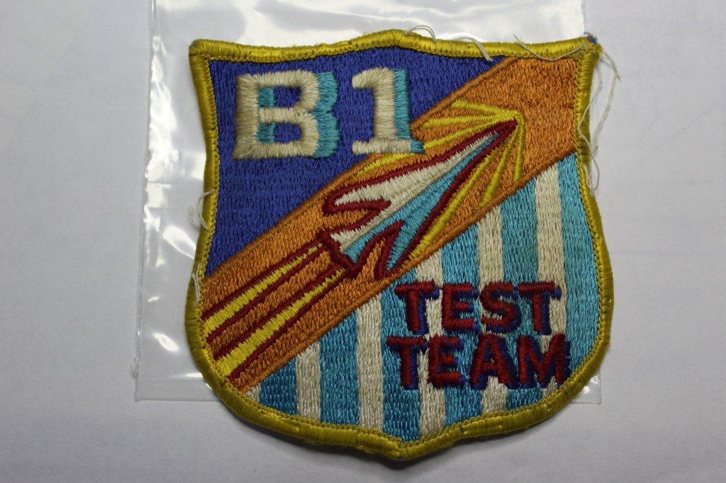 Vintage B1 Bomber Test Team Uniform Patch