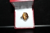 Genuine Tiger Eye and Diamond Ring