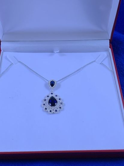 8.86ct Sapphire Cartier Style Necklace
