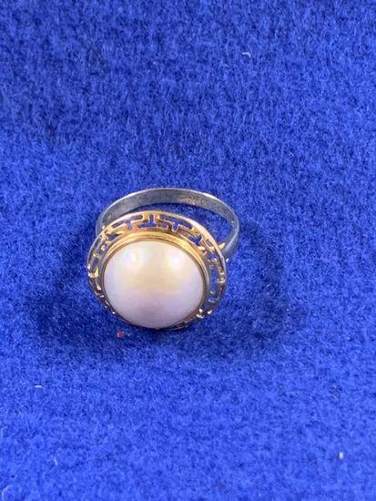 Genuine 14kt Mbe Pearl Ring