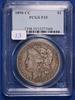 1890-CC F15, PCGS Morgan Silver Dollar