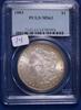 1883 MS63, PCGS Morgan Silver Dollar