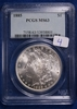 1885 MS63, PCGS Morgan Silver Dollar
